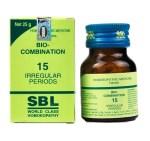 SBL Biocombination 15 (BC15) Tablets for Irregular Periods, scanty menstruation, excessive menstruation, painful menstruation