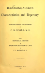 Characteristics And Repertory Free Book Download