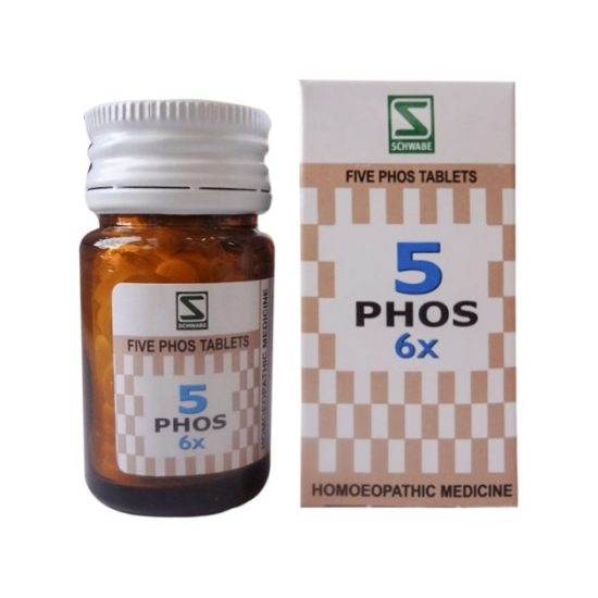 Schwabe Five Phos Tablets 3x, 6x - General Tonic for Nerves