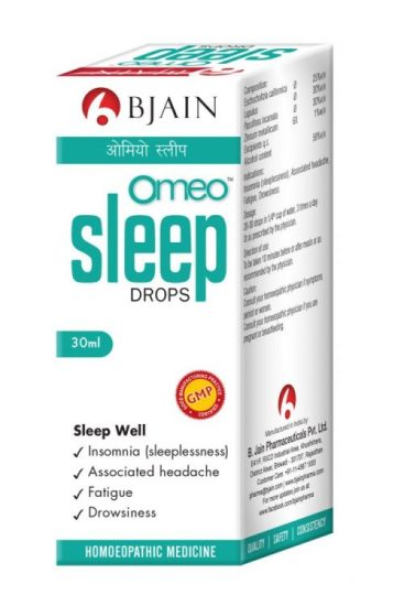 Omeo Sleep Drops - homeopathy insomnia medicine, for sleeplessness, difficulty in falling asleep, tension