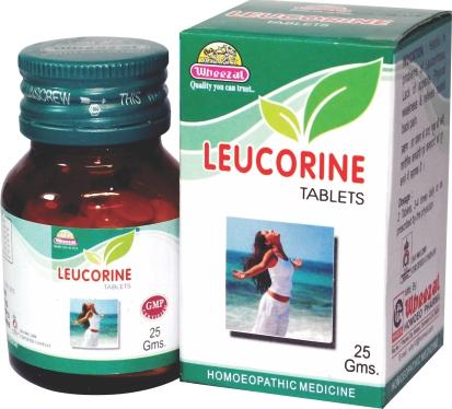 Wheezal Leucorine for white vaginal discharge (leucorrhoea). Homeopathic medicine