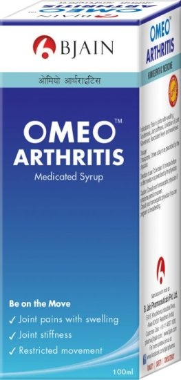 Homeopathy medicine for joint pain & swelling, muscle stiffness, Omeo Arthritis syrup