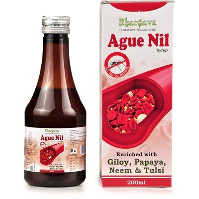 R S Bhargava Ague Nil Syrup Homeopathic medicine for Dengue with Giloy, Papaya, Neem and Tulsi