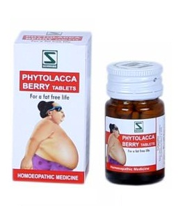 Schwabe Phytolacca Berry Tablets for Obesity, Overweight treatment, weight loss