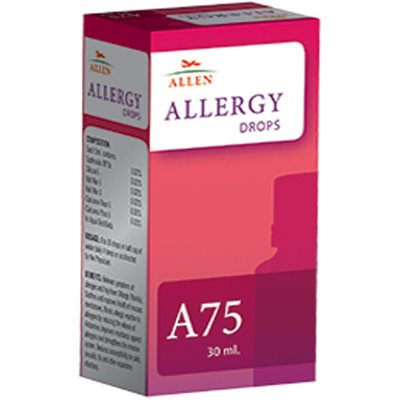 Allen A75 Drops, Homeopathy Allergy Medicine, 30ml