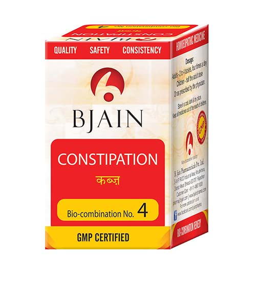 Bjain BioCombination No.4 Tablets, Homeopathy for Constipation