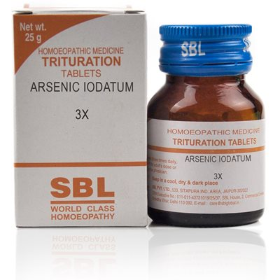 Arsenic Iodatum 3X, 4X, 6X Tablet the peculiar and persistently irritating, corrosive character of all the discharges, particularly dry, scaly, burning and itching eruptions as psoriasis, tinea.