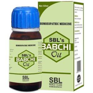 SBL Babchi Oil Psoralea Corylifolia for Psoriasis and White skin Patches, vitiligo, leucoderma medicine