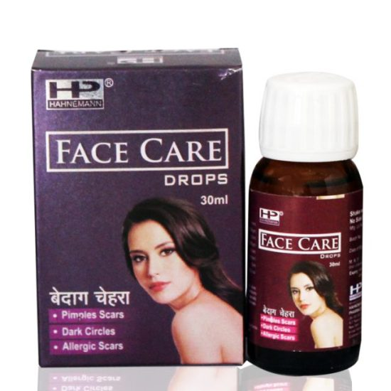 Hahnemann Pharma Face Care Drops for Pimples Dark Circles Scars
