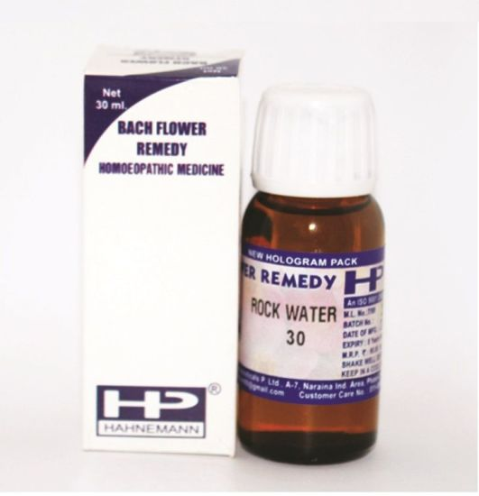 Buy Bach Flower Remedy Rock Water for Self repression, self perfection, overwork, self-sacrificing, opinionated.