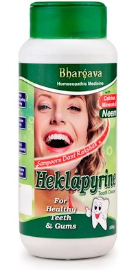Bhargava Hecklapyrine Tooth Powder for Healthy Teeth and Gums