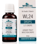 Wheezal WL24 Urinary Tract Infections (UTI) Drops, cystitis, urethritis, nephritis, cystopylitis, cystopyelonephritis