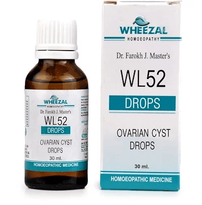 Wheezal WL52 Ovarian Cyst Drops for Symptoms of Ovarian Complaints