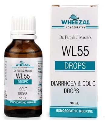Wheezal WL55 Diarrhoea & Colic Drops, IBS