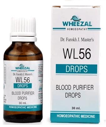 Wheezal WL56 Blood Purifier Drops - Helps Cure Skin Diseases
