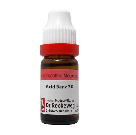 Dr Reckeweg Germany Acidum Benzoicum Homeopathy Dilution 6C, 30C, 200C, 1M, 10M, CM