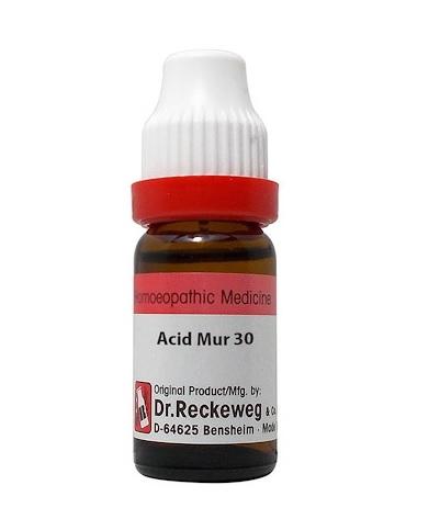 Dr Reckeweg Germany Acidum Muriaticum Homeopathy Dilution 6C, 30C, 200C, 1M, 10M, CM
