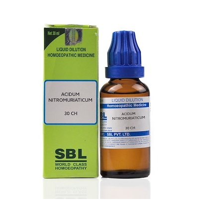 SBL Acidum Nitro Muriaticum Homeopathy Dilution 6C, 30C, 200C, 1M, 10M, CM