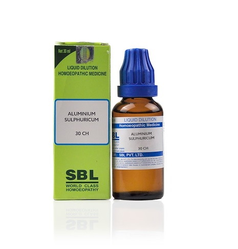 SBL Aluminium Sulphuricum Homeopathy Dilution 6C, 30C, 200C, 1M, 10M, CM