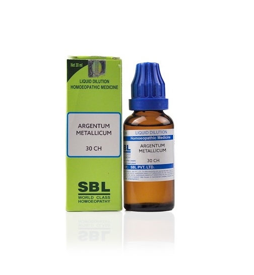 SBL Argentum Metallicum Homeopathy Dilution 6C, 30C, 200C, 1M, 10M, CM