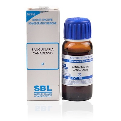 SBL Sanguinaria Canadensis Homeopathy Mother Tincture Q