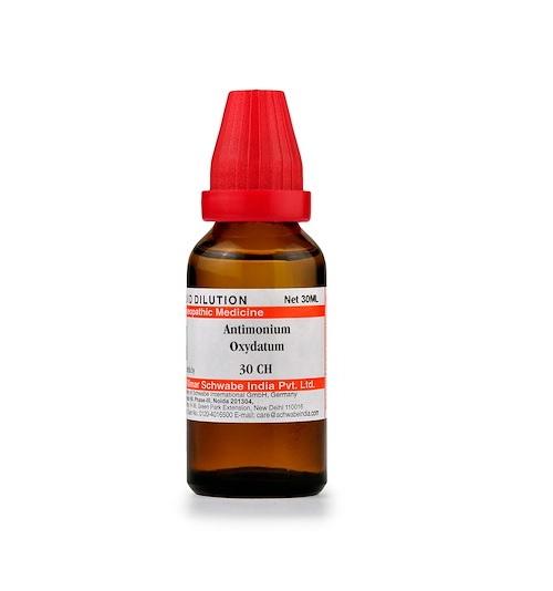 Schwabe Antimonium Oxydatum Homeopathy Dilution 6C, 30C, 200C, 1M, 10M