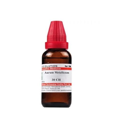 Schwabe Aurum Metallicum Homeopathy Dilution 6C, 30C, 200C, 1M, 10M, CM