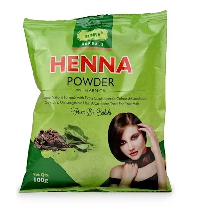 Bakson's Henna powder with Arnica (Mehandi color)