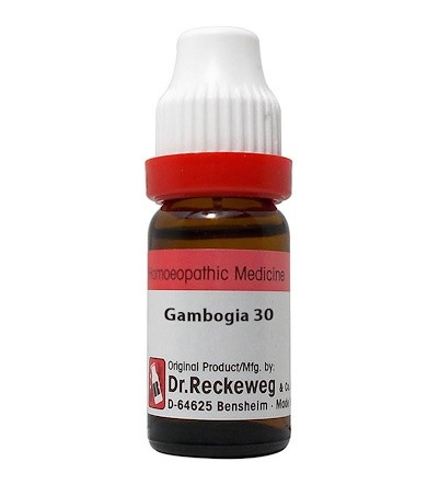 Dr Reckeweg Germany Gambogia Homeopathy Dilution 6C, 30C, 200C, 1M, 10M, CM