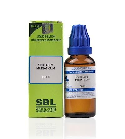 SBL Chininum Muriaticum Homeopathy Dilution 6C, 30C, 200C, 1M, 10M