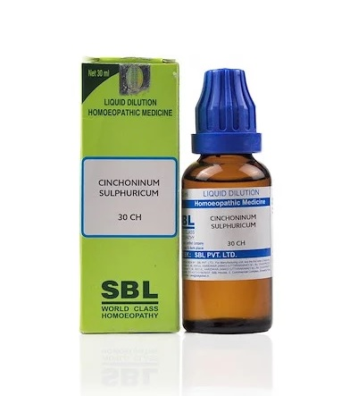 SBL Cinchoninum Sulfuricum Homeopathy Dilution 6C, 30C, 200C, 1M, 10M, CM