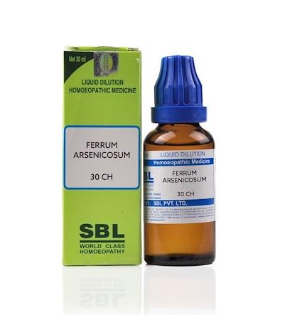 SBL Ferrum Arsenicosum Homeopathy Dilution 6C, 30C, 200C, 1M, 10M, CM