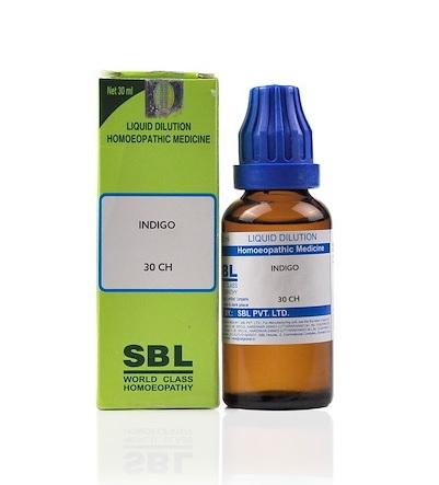 SBL Indigo Homeopathy Dilution 6C, 30C, 200C, 1M, 10M, CM