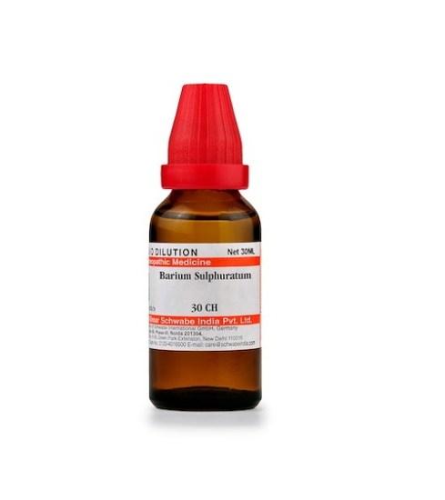 Schwabe Barium Sulphuratum Homeopathy Dilution 6C, 30C, 200C, 1M, 10M