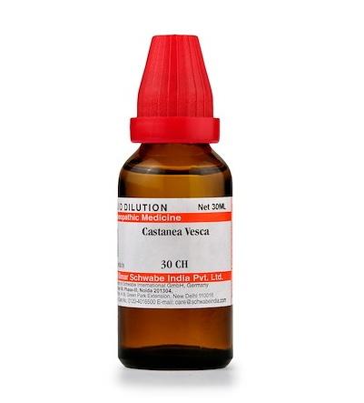 Schwabe Castanea Vesca Homeopathy Dilution 6C, 30C, 200C, 1M, 10M