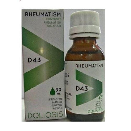 Doliosis D43 Rheumatism Drops for Control Rheumatism & gout