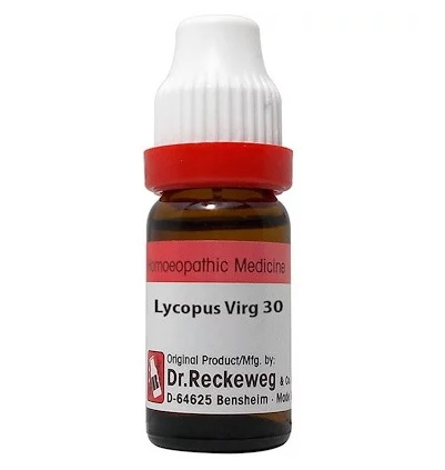 Dr Reckeweg Germany Lycopus Virginicus Homeopathy Dilution 6C, 30C, 200C, 1M, 10M