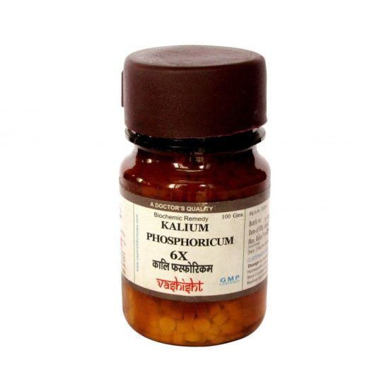 Dr.Vashisht Kalium Phosphoricum Biochemic Tissue Salts 6x