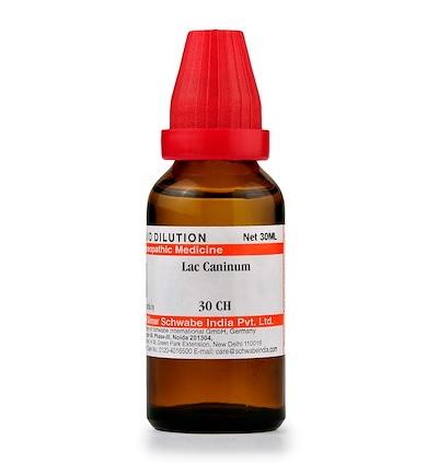 Schwabe Lac Caninum Homeopathy Dilution 6C, 30C, 200C, 1M, 10M