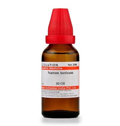 Schwabe Natrum Aceticum Homeopathy Dilution 6C, 30C, 200C, 1M, 10M
