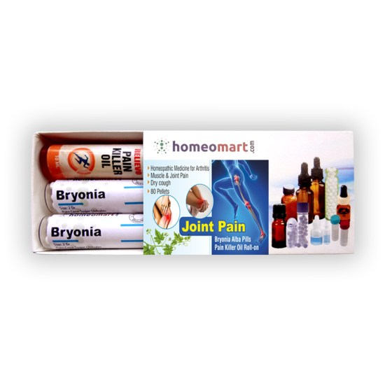 Joint Pain Mini Kit with Bryonia Pills & Wheezal Relievo Pain Killer Oil