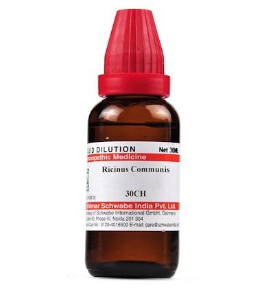 Schwabe Ricinus Communis Homeopathy Dilution 6C, 30C, 200C, 1M, 10M