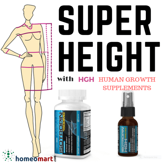 Speed height with human growth supplements in capsules, spray