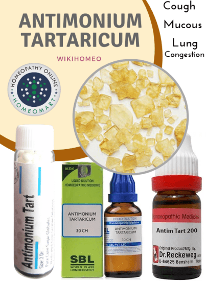 Homeopathy medicine Antimonium Tartaricum medicine indications benefits