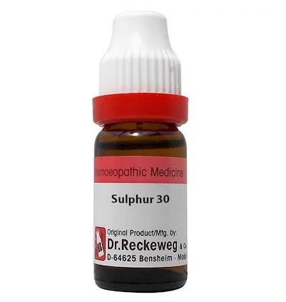 Dr Reckeweg Germany Sulphur Homeopathy Dilution 6C, 30C, 200C, 1M, 10M