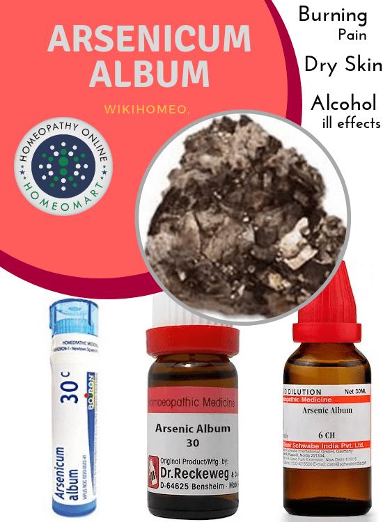 Hoeopathy arsenicum album medicines in pills drops