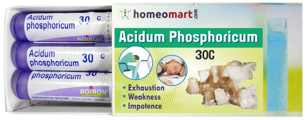 Homeopathy medicine Acidum Phosphoricum for Exhaustion, Weakness, Impotence