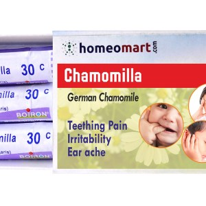 Homeopathy medicine chamomilla for teething pain irritability, earache