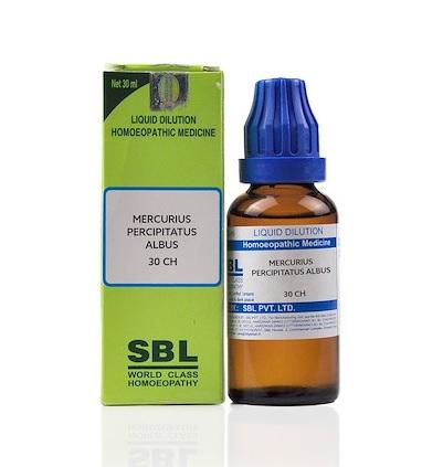 SBL Mercurius Praecipitatus Albus Homeopathy Dilution 6C, 30C, 200C, 1M, 10M