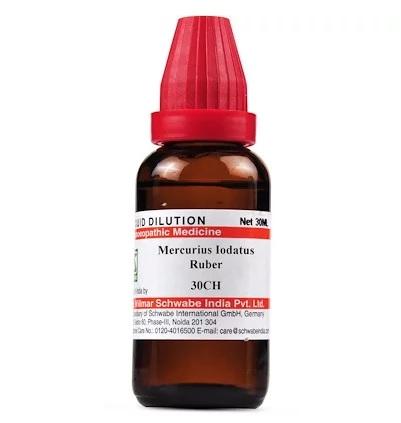 Schwabe Mercurius Iodatus Ruber Homeopathy Dilution 6C, 30C, 200C, 1M, 10M